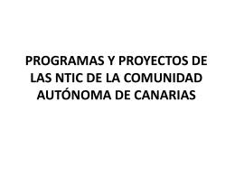 programas y proyectos de las ntic de la comunidad