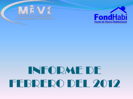 INFORME MENSUAL FEBRERO 2012
