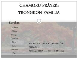 CHAMORU PRÅYEK: TRONGKON FAMILIA