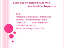 Colegio de bachilleres #13 Xochimilco Tepepan