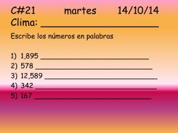 Calentamientos 21-29