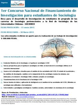 Afiches Concurso de Investigación Sociología