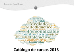 Catálogo de cursos 2013 - e-learningFOD