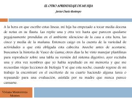 Viviana Monterroza Montes EL OTRO APRENDIZAJE DE MI HIJA