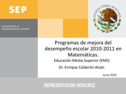 Proyecto Galileo - Subsecretaría de Educación Media Superior