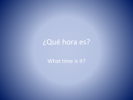 ¿Qué hora es? - Cobb Learning