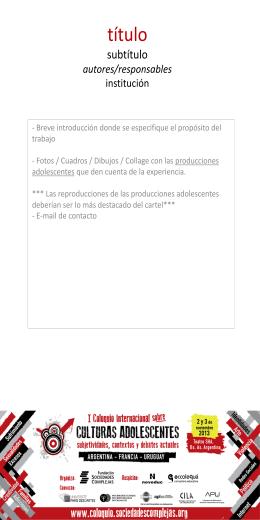 título subtítulo autores institución