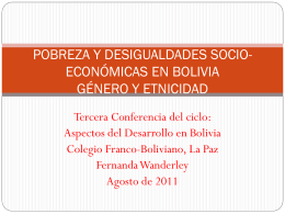 desigualdades socio-económicas en bolivia género y
