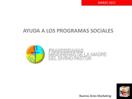 ayuda a los programas sociales