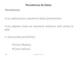 Persistencia de Datos