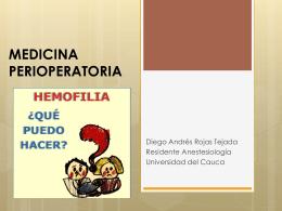 MEDICINA PERIOPERATORIA - HEMOFILIA -
