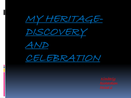 My Heritage-Discovery and Celebration Kimberly