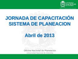 Sistema de Planeación de la Universidad Nacional de Colombia