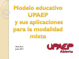 El Modelo Educativo UPAEP