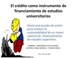 El crédito como instrumento de financiamiento de estudios