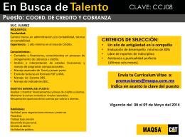Promoción Interna - COORD. DE CREDITO Y COBRANZA
