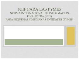 La NIIF para las PYMES