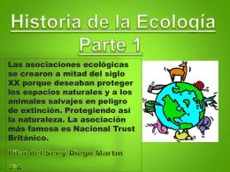 Historia de la ecología parte 1
