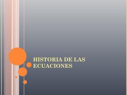 HISTORIA DE LAS ECUACIONES - Jenn-Durazno-p