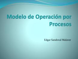 Modelo de Operación por Procesos