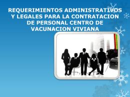 requerimientos administrativos y legales para la