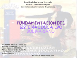 fundamentación legal - sistemaeducativovenezolanoiua