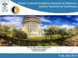 Sesión Conjunta Academia Nacional de Medicina