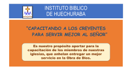 INSTITUTO BIBLICO DE HUECHURABA