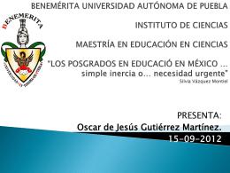 LOS POSGRADOS - Educacionenvalores