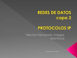REDES DE DATOS capa 3 PROTOCOLOS IP - IUE-Redes-de