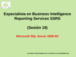 Clase 19 BI MSQL Server 2008 Reporting Services