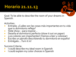 2nd year lesson 11.21.13 Horario 21.11