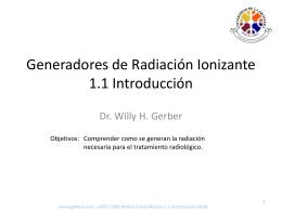 Generadores de Radiación Introducción
