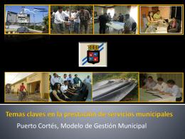 Temas Claves en la Prestación de Servicios Municipales