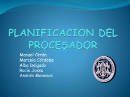 planificacion del procesador