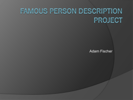 Famous Person Description Project