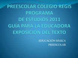 PROGRAMA DE ESTUDIOS 2011 GUÍA PARA LA EDUCADORA