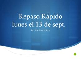 Repaso Rápido lunes el 13 de sept. - LexSpanish1-2