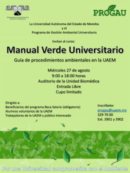 Manual Verde Universitario - Universidad Autónoma del Estado de