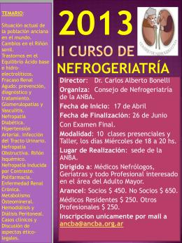 2013 CURSO DE NEFROGERIATRÍA