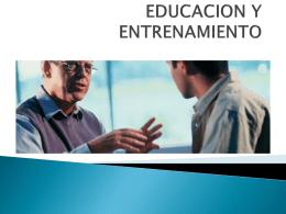 EDUCACION Y ENTRENAMIENTO - Gestion de recursos humanos