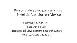Dr. Gustavo Nigenda / Instituto Nacional de Salud Pública.