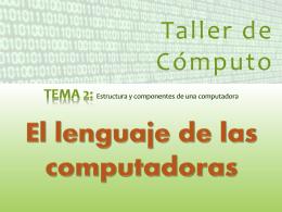 El lenguaje de las computadoras