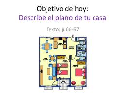 Objetivo: Describe el plano de tu casa