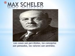 MAX SCHELER.