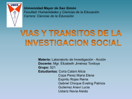 VIAS Y TRANSITOS EN LA INVESTIGACION SOCI - e