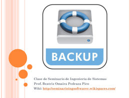 BACK-UP - seminarioingsoftwarer