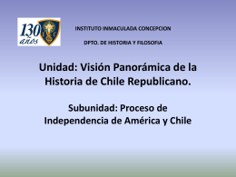 La Independencia de Chile - Instituto Inmaculada Concepción