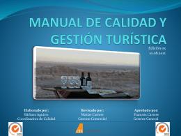 MANUAL DE CALIDAD Y GESTIÓN TURÍSTICA