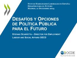 Stefano Scarpetta - El futuro del empleo en España